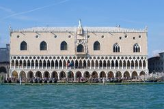Ducal Palace close-up on a sunny afternoon. Venice, Italy. VENICE, ITALY - SEPTEMBER 26, 2017: Ducal Palace close-up on a sunny afternoon Stock Photography