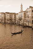 VENICE, ITALY - SEPTEMBER 21: Grand Canal of Venice on September Stock Images