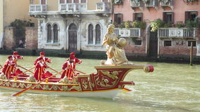 VENICE, ITALY - SEPTEMBER 7, 2014: Historical ships open the Reg Stock Photography