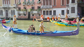 VENICE, ITALY - SEPTEMBER 7, 2014: Historical ships open the Reg Stock Photo