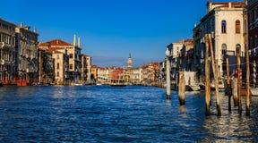Venetian Gothic architecture building facade along the Grand Can stock photos