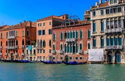 Venetian Gothic architecture building facade along the Grand Can royalty free stock photo