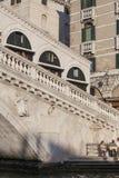 Rialto Bridge Ponte de Rialto over Grand Canal , Venice, Italy Stock Photos