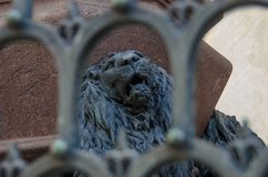 VENICE ITALY - SEPTEMBER 29, 2017: Sculpture of St. Mark`s lion Royalty Free Stock Photo