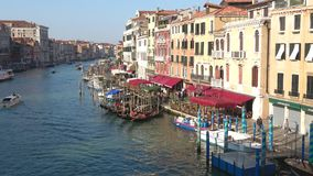 View of the Grand canal on a sunny day. Venice, Italy stock video