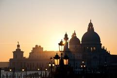 Venice, Italy skyline. The Santa Maria della Salute Church in Venice, Italy, during sunset Stock Photography