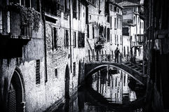 Venice,Italy. small channels and bridges Stock Image