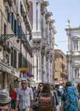 Venice, Italy - a street. Royalty Free Stock Images