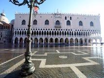Venice Italy streetlight in Saint Mark Square Stock Photography