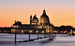 Venice. Italy, Venice, sunset cathedral church Royalty Free Stock Image