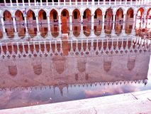 Venice, Italy, Sunset, Doges Palace. Venice, Italy.  Doges Palace reflection at sunset Stock Images