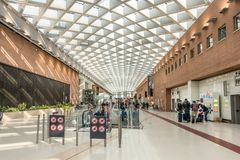 Marco Polo International Airport in Venice stock photos