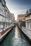 Venice, Italy. A typical canal in venice, Itally Stock Photos
