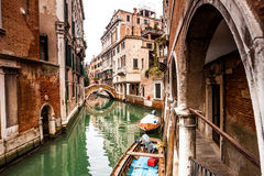 Venice, Italy. Typical canal street of Venice in Italy Royalty Free Stock Image