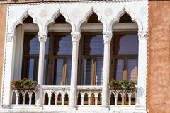 Venice ,Italy  ,typical italian brick  building with beautiful windows Stock Photography