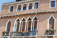 Venice ,Italy  ,typical italian building. Traditional  italian building with beautiful windows Royalty Free Stock Image