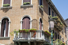Venice ,Italy  ,typical italian building. Traditional  italian building with beautiful windows Royalty Free Stock Photos