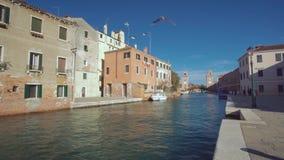 Venice Italy. Venice Architecture near Arsenal Bridge stock video