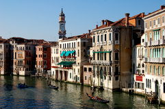 Venice, Italy: View Along the Grand Canal Stock Images