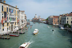 Venice, Italy. View for the Canal Grande and palazzo (ancient buildings), Venice, Italy stock image