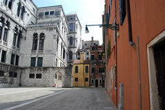 Venice, Italy. View of the musical academy and ancient buildings, Venice, Italy royalty free stock photography