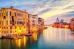 Venice, Italy. View over Canal Grande to Santa Maria della Salute from Academia Bridge, Venice, Italy Stock Image