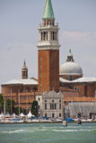 Venice, Italy - view of S. Giorgio island the church and harbor Stock Images