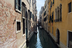 Venice, Italy. View for the small canal and ancient buildings, Venice, Italy Royalty Free Stock Images