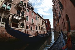 Venice, Italy. A water path in Venice Royalty Free Stock Photo