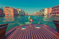 Venice Italy Water Taxi Royalty Free Stock Images