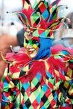 Venice joker. Portrait of multicolored venetian mask of smiling joker Royalty Free Stock Images