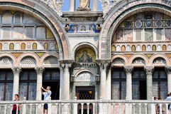 VENICE-JUNE 15:Detail Saint Mark's Basilica on June 15, 2012 in Venice.Italy. Stock Photo
