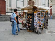 Venice kiosk with maps magazines newspapers. Tourists and locals alike are universally drawn to kiosk with maps and newspapers all across Europe. This kiosk is royalty free stock image