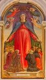 Venice - La vergine della misericordia (Virgin of grace) by Bartolomeo Vivarini (1432 - 1491) Basilica di san Giovanni e Paolo Stock Image