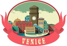 Venice Label Royalty Free Stock Photography