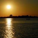 Venice Lagoon. A wonderful sun down in the Venetian lagoon Royalty Free Stock Photography