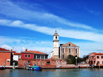 Venice Lagoon. In a sunny day stock image