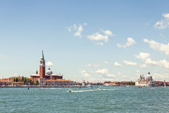 Venice lagoon and architecture view Stock Image