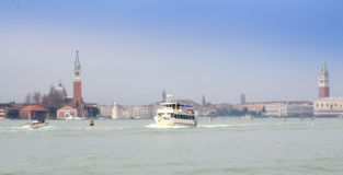 Venice lagoon boats Royalty Free Stock Images