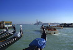 Venice lagoon boats Royalty Free Stock Image
