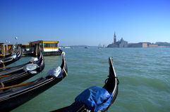 Venice lagoon gondolas Royalty Free Stock Image