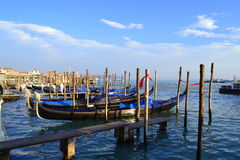Venice lagoon gondolas Royalty Free Stock Photography