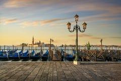 Free Venice Lagoon, San Giorgio Church, Gondolas And Street Lamp. Italy Royalty Free Stock Images - 164370029