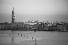 Venice Lagoon, seen from arriving cruise ship Royalty Free Stock Photos