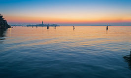 Venice lagoon at sunset Royalty Free Stock Images