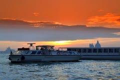 Venice lagoon at sunset,Italy Stock Photos