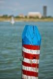 Venice laguna mooring pole Stock Images