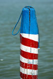 Venice laguna mooring pole Royalty Free Stock Images