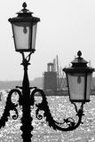 Venice - lamp and light-house Royalty Free Stock Photos