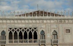 Venice landmark building Co D oro with typical architecture deta Stock Photo